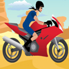 Brza devojka na motoru